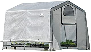 ShelterLogic 10' x 10' x 8' GrowIT Box Peak Style Roof and Easy Flow Roll-Up Side Vents Greenhouse, 10 by 10 by 8-Feet