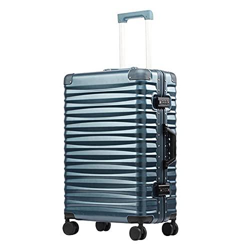 N\C Suitcase 4-wheel Fine-tuning Universal Wheel Trolley Aluminum Frame Lightweight Carry-on Luggage TSA Lock Boarding Suitcase Checked Password Box