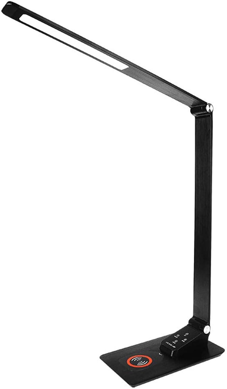 WETRR LED-Schreibtischlampe mit drahtlosem Ladegert, wiederaufladbare Tischlampen für die Augenpflege, 3 Helligkeitsstufen, dimmbar mit 5 Modi, dimmbare Lesetischleuchten