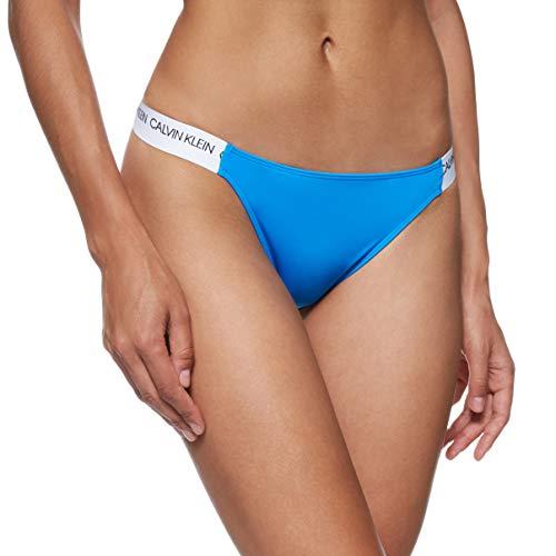 Calvin Klein Damen Cheeky Bikini Bikinioberteil, Blau (Blue Aster CBP), (Herstellergröße: Large)