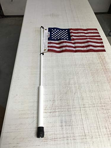 Ensign Nautical American Flag Fully with Sewn Stripes for Yacht Boat Universal Boat Flag Marine 12x18 with 4 Boat Flag Pole Kits