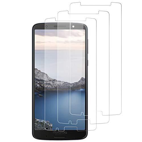 RIIMUHIR Glas Panzerglas für Motorola Moto G6 Plus Bildschirmfolie Aus Gehärtetem Glas [Blasenfrei] [Anti-Fingerabdruck] [9H Festigkeit] [Anti-Kratzer] [3 Stück] Moto G6 Plus Bildschirmschutzfolie