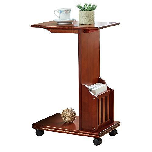 Bett Schreibtisch Multifunktion Beistelltisch |Höhenverstellbar Und Schwenkbar Rolltisch | Extra-leichter Tisch |kleiner Und Klappbarer Tisch | Schlafszimmer- Und Wohnzimmertisch Laptop Schreibtisch F