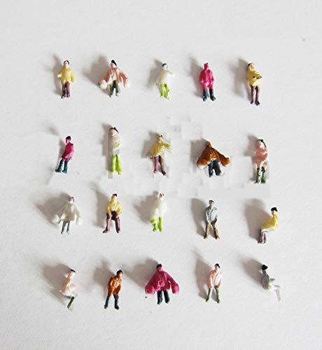 100 x Modell Stehende Sitzende Figuren Menschen Handbemalt 1:200 Spur Z