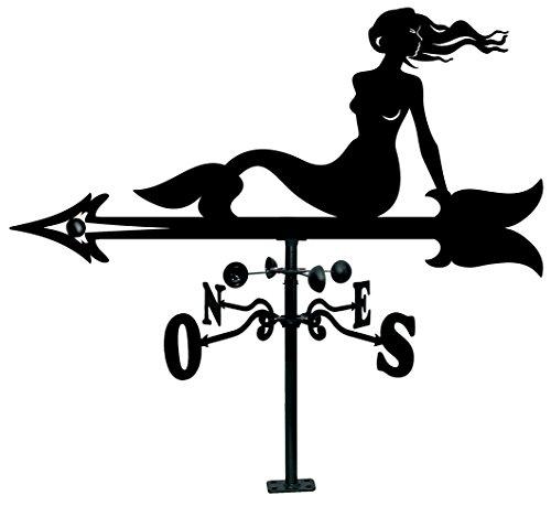 Arthifor - Veleta de Viento de Hierro para Tejado con Silueta de Sirena