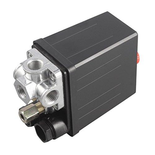 Gugutogo Valvola di Regolazione del pressostato del compressore d'Aria Resistente 90 PSI -120 PSI