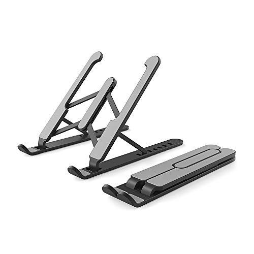 GGHKDD - Soporte plegable para ordenador portátil, 7 alturas, ajustable, portátil, con bolsa de transporte, portátil, aleación de aluminio, portátil, para oficina