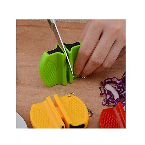 QXM Draagbare Mini keuken Mes Slijper Keuken Gereedschap Accessoires Tweetraps Camping Zakmes Slijper