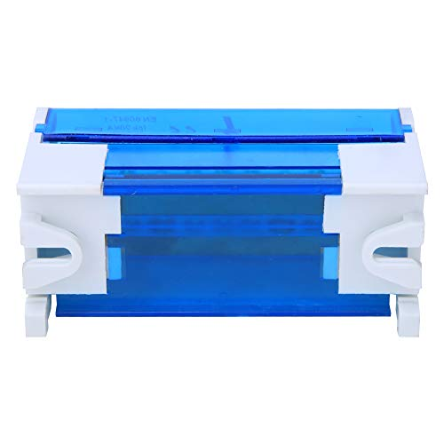 LANTRO JS - Caja de conexiones de terminales 211, bloques de terminales de 2 niveles de carril DIN monofásico con cubierta transparente contra el polvo