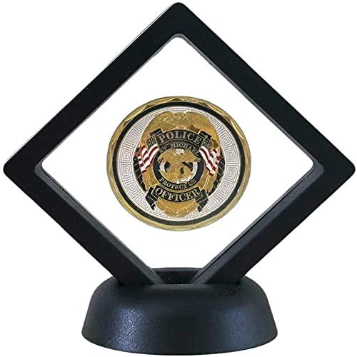 ChengBeautiful Medallista Deportivo Caja de la Caja de la exhibición de la joyería de la Moneda con el Soporte del Almacenamiento de la Medalla de Soporte (Color : Black, Size : 11x11x2cm)