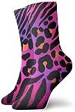 tyui7 Tiger Leopard Print Colorful Animal of Tiger Print Calcetines de compresión antideslizantes Cosy Athletic 30cm Crew Calcetines para hombres, mujeres, niños