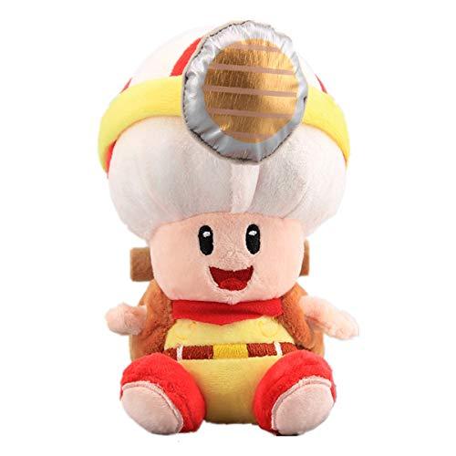 uiuoutoy Super Mario Bros Sitting Captain Toad Mushroom Plush Doll 20cm Soft Toys Kids Gift