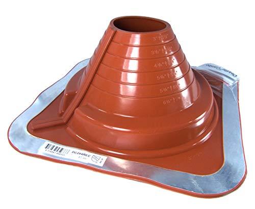 pour tuyaux OD de 10,2 /à 20,3 cm DFE105B Dektite Pipe /à base carr/ée pour clignotant : #5 Noir Base carr/ée EPDM Flexible Clignotant Dektite