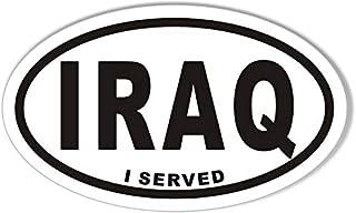 Iraq I Served Oval Bumper Sticker