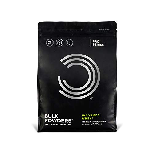 BULK POWDERS Informed Whey Protein Isolate Powder, Protein Shake with Added Digestive Enzymes, Vanilla Ice Cream, 2.27 kg