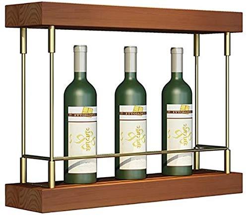 YLCJ Wandrek voor wijnflessen | Het decor van het huis en de keuken kan 4 flessen van standaard wijn (afmetingen: 50 x 45 x 35 cm) 60cm*45cm*35