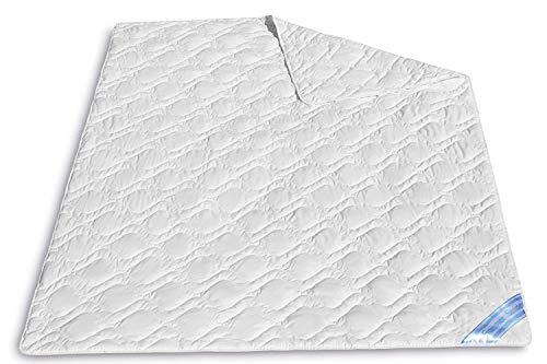 VitaloEssential Couette d'été 135 x 200 cm – Couverture en soie respirante – Couette 60 % soie sauvage et 40 % coton – Lavable – Couette d'été pour les personnes souffrant d'allergies