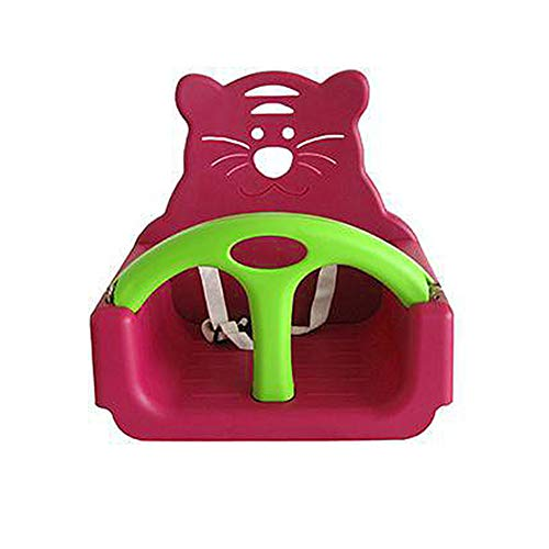 Best Price MAQLKC Swing Animal Seat Belt Full Bucket Coated Heavy Duty Swing Seat with High Back Bra...