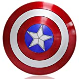 ZYER Captain America Shield Bouclier de Costume en Plastique Taille Unique Adulte Accessoires pour Hommes d'Amérique Bouclier Cosplay