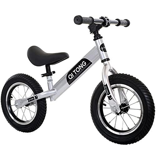 JHHXW Bicicletas de Equilibrio para niños, neumáticos neumáticos de Caucho, sin Pedales para Bicicleta corredera, 1-6 años de Edad, niñas, niñas, Juguetes, Regalo de cumpleaños (Color : Black)