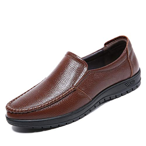 [Dabbqis] ローファー スリッポン ドライビングシューズ メンズ モカシン カジュアルシューズ ビジネスシューズ デッキシューズ 軽量 通気 滑り止め 通勤 学生靴(ブラウン25)