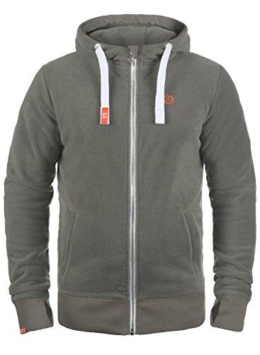 !Solid Loki Herren Fleecejacke Sweatjacke Jacke Mit Kapuze Und Daumenlöcher, Größe:XL, Farbe:Mid Grey (2842)