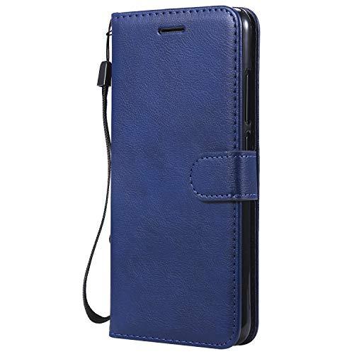 Jeewi Hülle für [Xiaomi Mi 8 Lite] Hülle Handyhülle [Standfunktion] [Kartenfach] [Magnetverschluss] Tasche Etui Schutzhülle lederhülle flip case für Xiaomi Mi8 Lite - JEKT051812 Blau