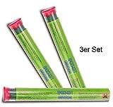 3x Epoxy-Knetmasse, grün, 114 gr. für Metall, Holz, Beton, Keramik, Glas, funktioniert auch unter Wasser