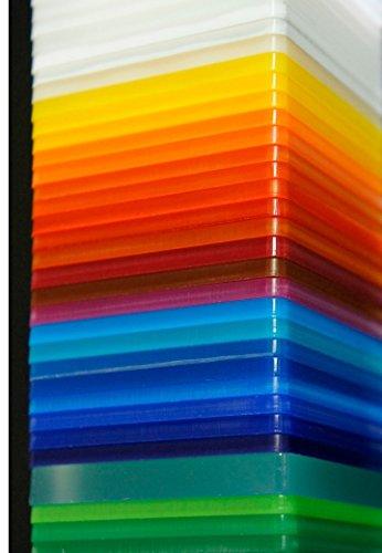 Metacrilato Color Placha de 50 x 50 cm 3mm de espesor. Elije color (AMARILLO)