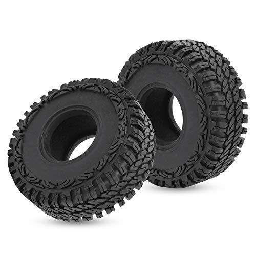 Wosune Neumático de Goma, neumático RC Ligero, Duradero 1 par Más flexibilidad TRX4 D90 para SCX10 90046 90047