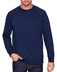 60% cotton, 40% polyester French terry fleece 5.3 oz. Unisex fit Raglan sleeves 1x1 ribbed collar