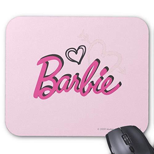 Alfombrilla para ratón con diseño de corazones de Barbie (18 x 22 cm)