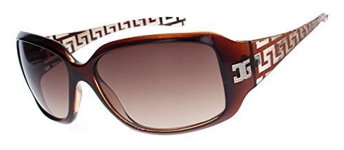 amashades Medusa Styles GIANNI MILANO klassische Damen Sonnenbrille gelaserter Rahmen Designer Look GV34 (Cognac)