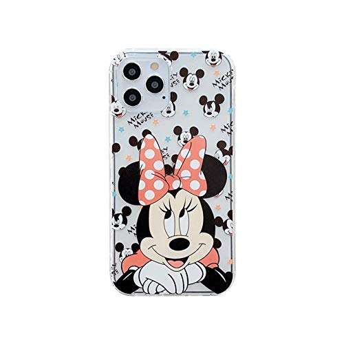 iFiLOVE for iPhone 12 Mini Minnie Mouse Case, Girls Kids Women Cute Cartoon Character Soft Clear Minnie Protective Case Cover for iPhone 12 Mini 5.4 inch (Minnie Mouse)