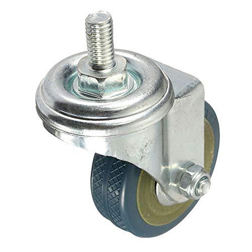 Ruedas giratorias de goma para muebles de 4 piezas de ruedas giratorias de alta resistencia