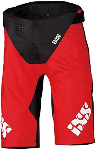 IXS Race Kids Shorts Fluo Red-Black KL (152) Hose, Erwachsene Unisex, Rot, L