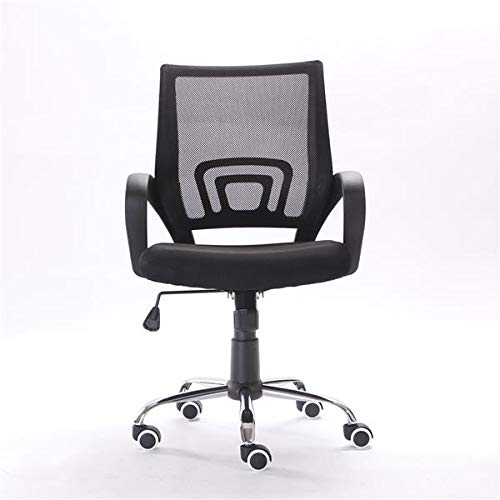 Mesh Back Gas Lift Adjustable Office Swivel Chair Black