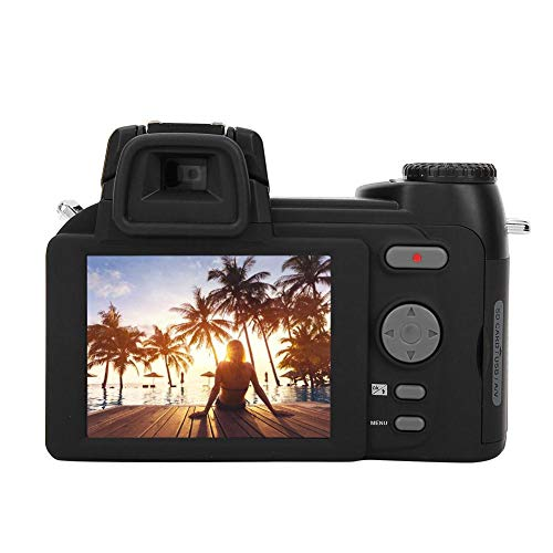Full HD Digital Camera, 33MP Digital DSLR Camera 0.5X Auto Focus Wide Angle Lens Kit, Rechargeable 24X Optical Zoom Multifunctional Portable Camera, Best Gift for Photography Lovers