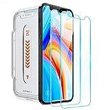 TORRAS 2枚入り iPhone 12 用ガラスフィルム iPhone 12 Pro 用ガラスフィルム 全面保護 特許貼り付けキット 日本旭硝子9H強化ガラス 透明 高透過率 耐衝撃 アイフォン12 12Pro用 2020 6.1インチ