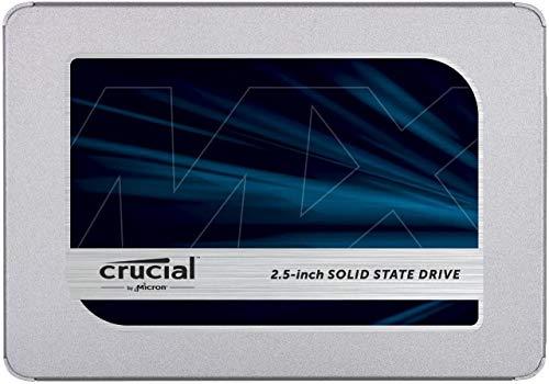 Crucial 1To CT1000MX500SSD1(Z) SSD interne MX500-jusqu'à 560 Mo/s (3D NAND, SATA, 2,5 pouces)