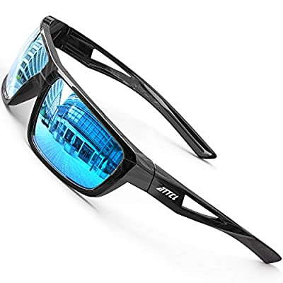 ATTCL Sports Polarized Sunglasses For Men Cycling Driving Fishing 100% UV Protection J2021 Blue