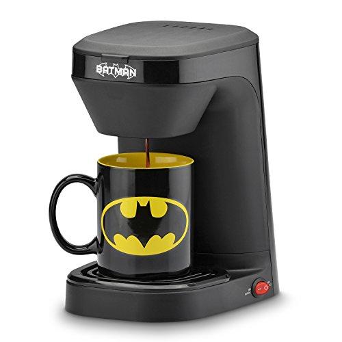 DC Batman Batman Single Serve Coffee Maker, Black/Yellow