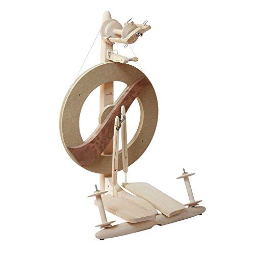 Kromski Fantasia Doppeltritt Spinnrad zum Spinnen von Wolle (Unlackiert)