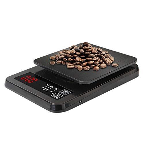 WZ Báscula Café con Temporizador, Escala Café Goteo Mano Digital, Balanza Digital para Alimentos Cocina para Hornear Cocinar Baterías Recargables USB (Size : 10kg/1g)