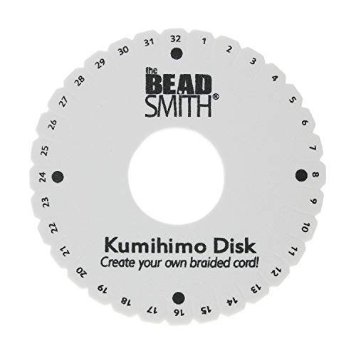 """The Beadsmith Round Kumihimo Disk, 6 inch Diameter, 3/8"""" Dense Foam, Jewelry Tools for Braiding, 1 disks"""