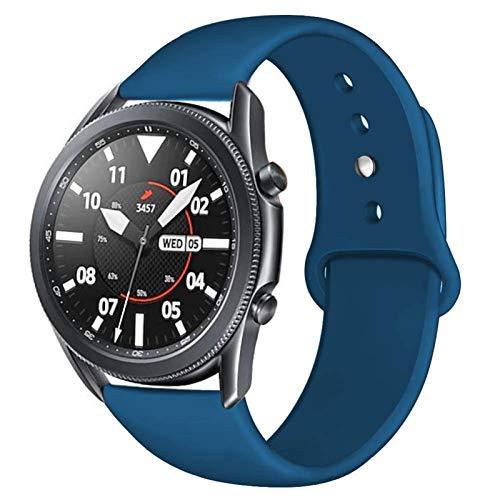 YGGFA Correa de 20/22 mm para Huawei Wtach GT 2/2e 42/46 mm para Samsung Gear S3/S2/Sport Silicona Pulsera Band Galaxy Watch 46mm/42mm/Active 2 (color de la correa: Yanqing, ancho de la correa: 20 mm)