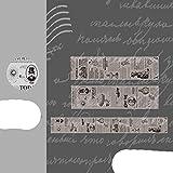 Cinta de Washi Vintage cinta de transparencia para mascotas álbum de recortes Diy decoración hecha a mano pegatina Maskingtape Paper-1