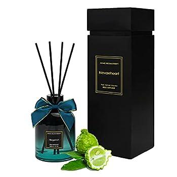 NEVAEHEART Reed Diffuser Bergamot Scented Reed Diffuser Set Home Fragrance Scent Diffuser Oil Diffuser Sticks 6.1 oz  180ml