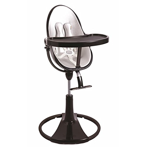 Best Buy! bloom Black Fresco Chrome High Chair in Lunar Silver
