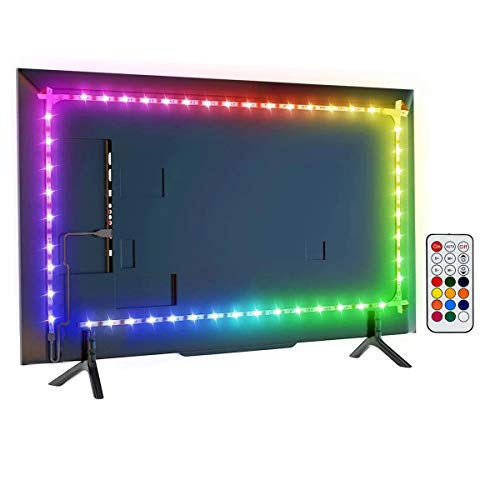 Led TV Hintergrundbeleuchtung, 6,56 Fuß LED-Lichtleiste Für 32-60-Zoll-TV, Monitor Smart-TV-Wandhalterung Arbeitsbereich Farbwechsel LED-Hintergrund Umgebungsbeleuchtung. (2.1)